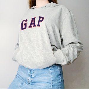 Vintage GAP oversized sweatshirt hoodie red grey